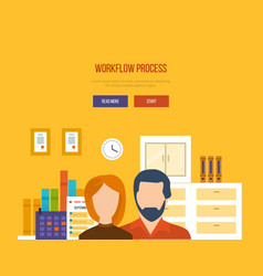 collaboration and workflow management planning vector image