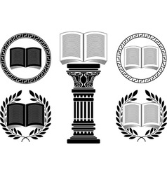 education stencil second variant vector image vector image