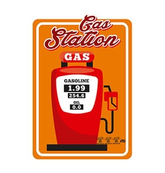 gas station vector image vector image