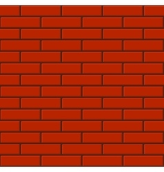 Seamless Tiled Red Brick Wall vector image vector image
