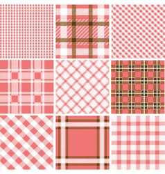 Set of plaid patterns vector image vector image