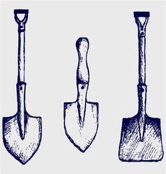 Shovel sketch vector