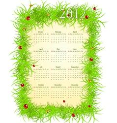 spring 2012 calendar vector image