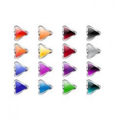 triangle arrow buttons vector image vector image