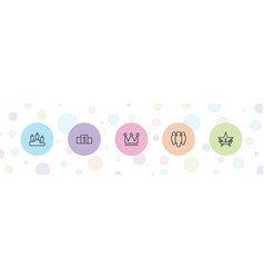 5 leader icons vector