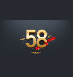 58th year anniversary background vector