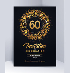 60 years anniversary invitation card template vector image