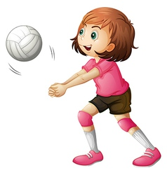 A young volleyball player vector image