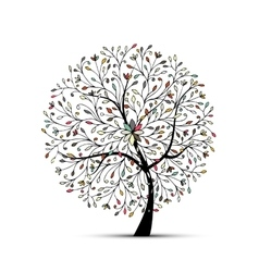 Abstract floral tree for your design vector image
