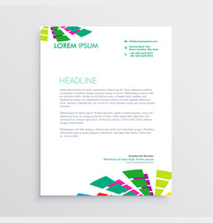 abstract letterhead template with colorful shapes vector image