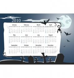 american halloween calendar vector image