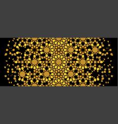 Arabesque rich gold luxury pattern arabesque vector