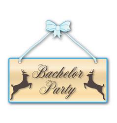 Bachelor party vector