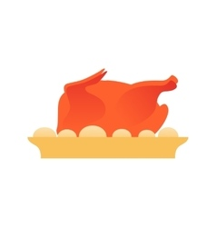 baked chicken vector image