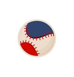 baseball ball sketch colorful vector image