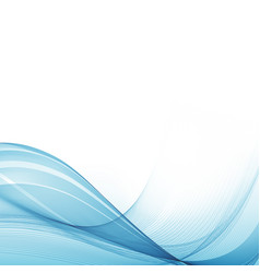 beautiful wavy blue backgroundtechnology vector image