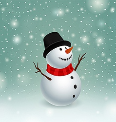 Beauty snowman vector