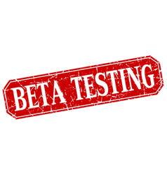 Beta testing vector