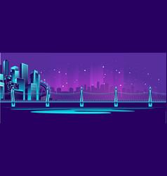 big neon bridge vector image