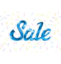 blue metal lettering sale price offer deal labels vector image