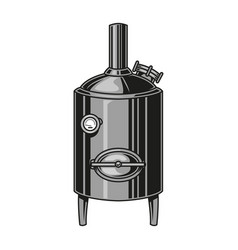 Brewing machine colorful vintage concept vector