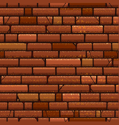 brick wall vintage seamless pattern vector image
