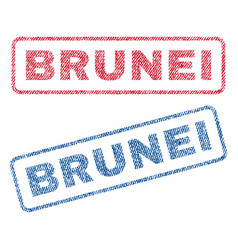Brunei textile stamps vector