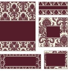 Burgundy open frame set vector