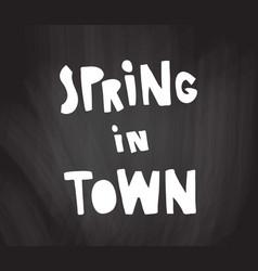 chalkboard spring vector image