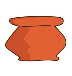 Clay pot isolated vector