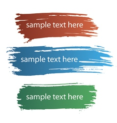 Color ink streaks paint stains vector