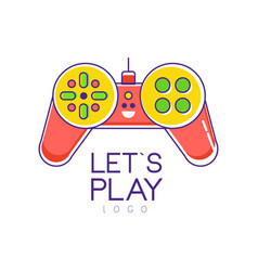 colorful joystick logo gamepad creative vector image