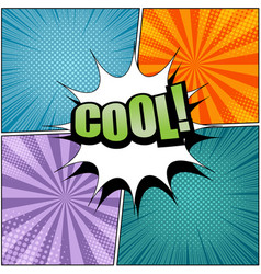 comic cool wording template vector image