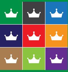 Crown icon sign icon symbol flat icon flat vector