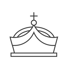 crown with gems jewelry related outline icon vector image
