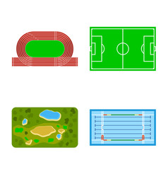 Design field and plan icon collection vector