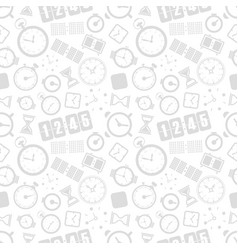 different style clocks seamless background vector image