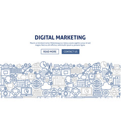 digital marketing banner design vector image