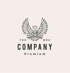 eagle hawk hipster vintage logo icon vector image