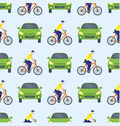 flat car vehicle type design sedan seamless vector image