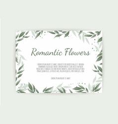 floral design card greeting postcard vector image