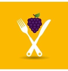 fresh fruit icon vector image