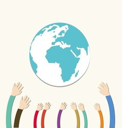 Hands Save The Earth vector image