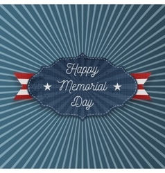 Happy Memorial Day national Label with Text vector image