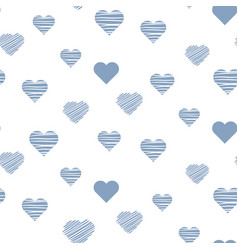 heart baby cute seamless pattern vector image