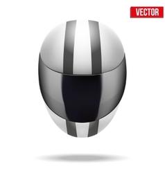 High quality light white motorcycle helmet vector
