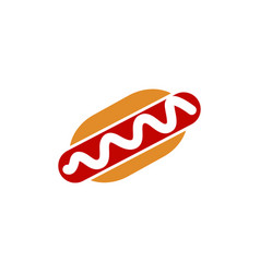 hot dog icon design template vector image