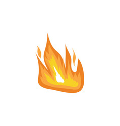 hot orange flame symbol in hand drawn flat style vector image