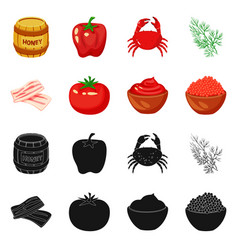 Isolated object taste and product icon vector