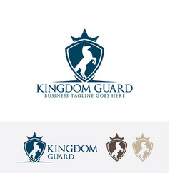 kingdom guard logo design vector image